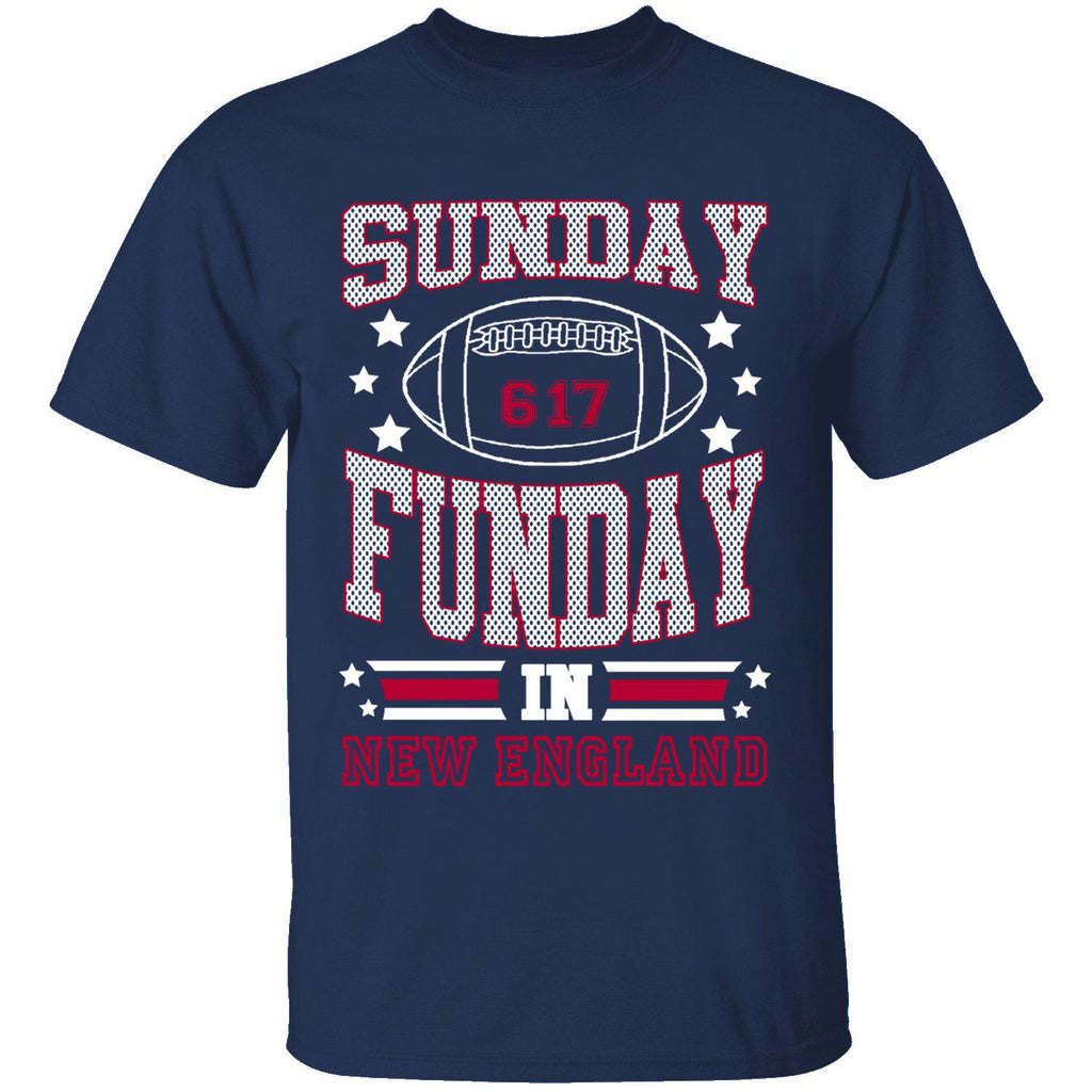 T-shirts de football Sunday Funday pour homme-NOUVELLE-ANGLETERRE - Marine-Small-Daily Steals