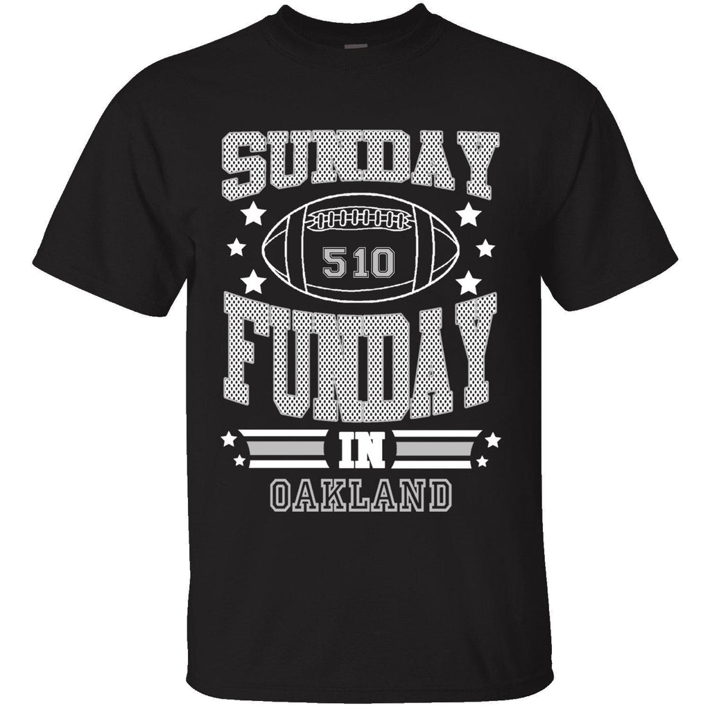 T-shirts de football Sunday Funday pour homme-OAKLAND - Noir-Small-Daily Steals