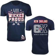 Football Champions New England T-shirts - Options pour hommes et femmes-S-hommes - Wicked Proud-Daily Steals