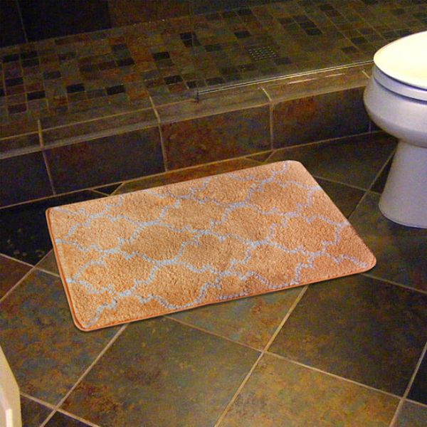 "17 x 24"" Super-Soft Barcelona Bath Mat-Gold-Daily Steals"