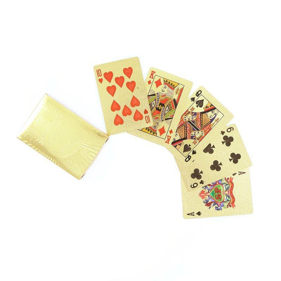 Gold Poker Cards and Carrying Box-Daily Steals