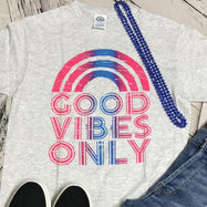 "Unisex T-Shirt ""Good Vibes Only""-S-Daily Steals"