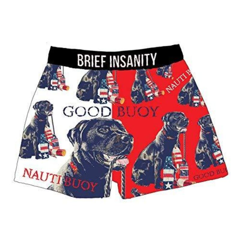 "Men's Boxer Briefs ""Good Buoy American Fido Dog Lovers""-S-Daily Steals"