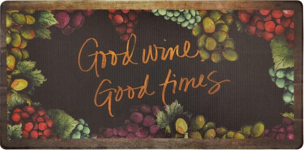 Oversized 20-Inch x 39-Inch Anti-Fatigue Embossed Floor Mat-GOOD WINE GOOD TIMES-Daily Steals