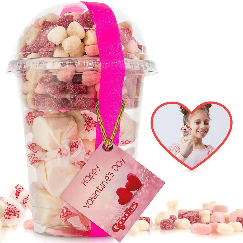 Gourmet Candy and Chocolate Gift Tray with Valentines Greeting Card-Goodies Hearts and Taffies-Daily Steals