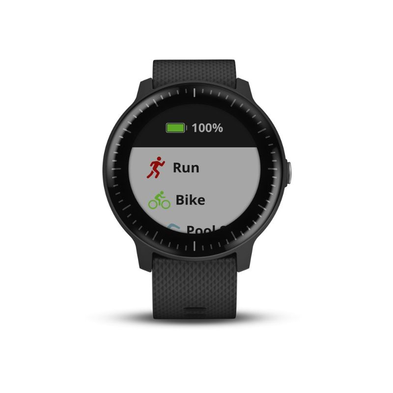 Garmin Vivoactive 3 Music - Montre intelligente GPS, stockage de musique, applications sportives - Black-Daily Steals