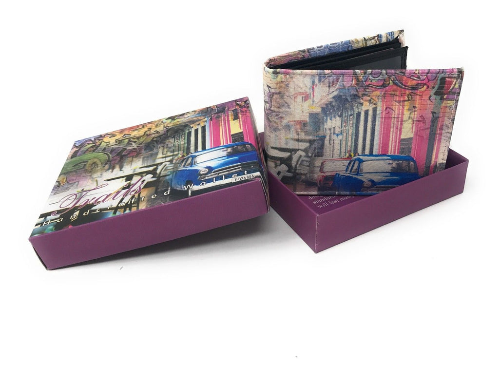 Bifold Wallets With Printed Designs - Comes in Gift Box-GRAFFITI VINTAGE-Daily Steals
