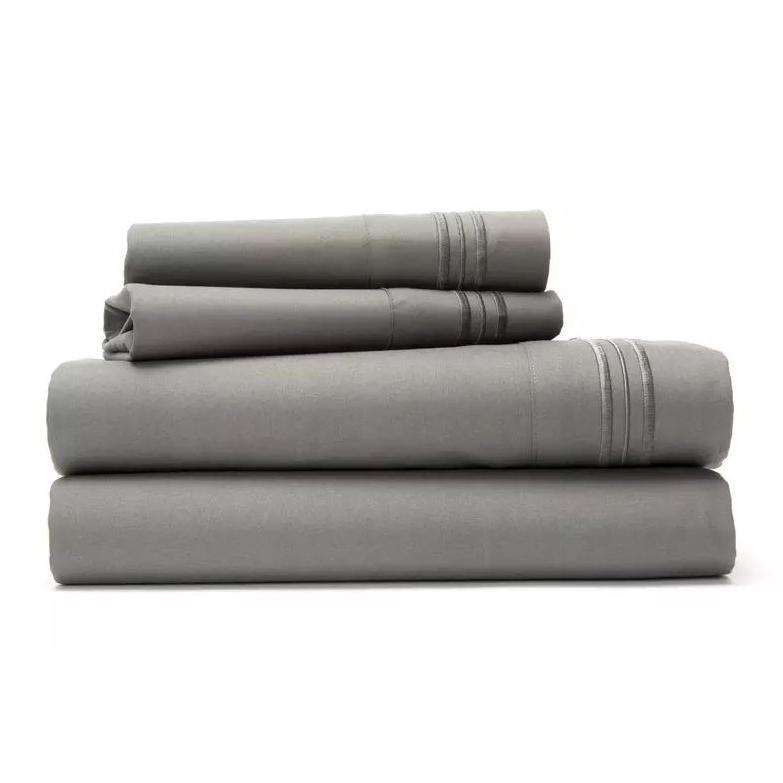 Ultra Soft 1800 Series Bamboo Blend Sheets - 4 Piece Set-Grey-Full-Daily Steals