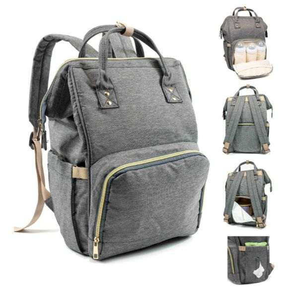 Diaper Bag Backpack- 9 Colors-Charcoal-Daily Steals