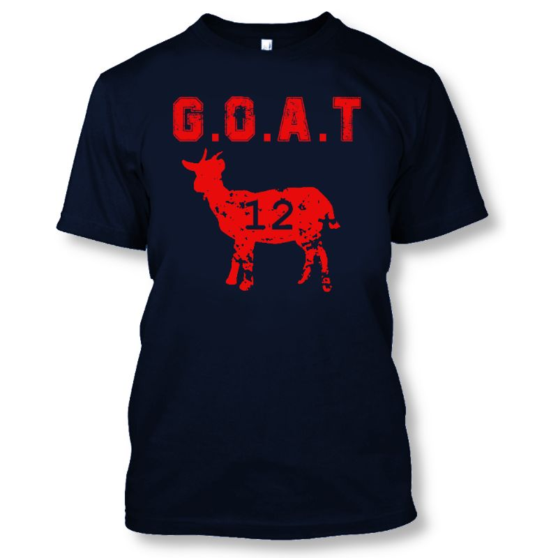 Greatest of all Time G.O.A.T 12 Brady New England Football Tshirt - Unisex-S-Daily Steals