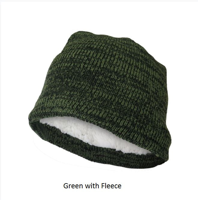 Polar Extreme Thermal Insulated Stocking Beanie Cap-Green with Fleece-Daily Steals