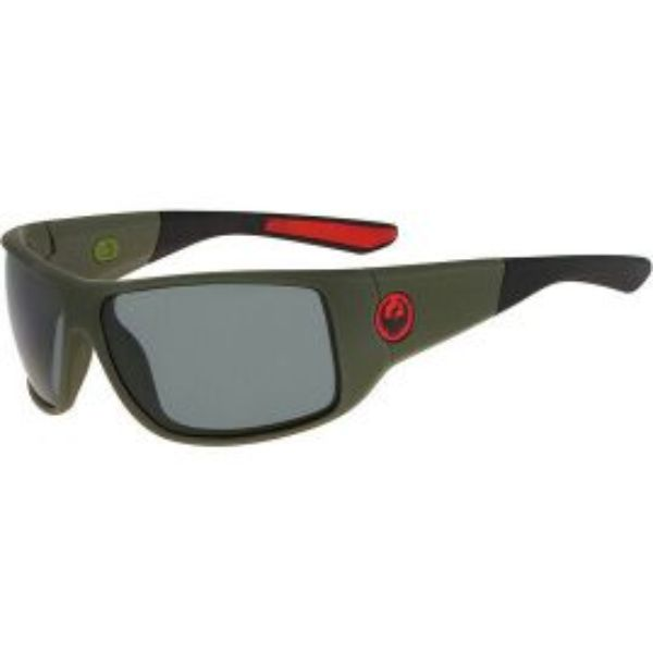 Daily Steals-Dragon Alliance Waterman X Polarized Men's Floatable Sport Sunglasses-Men's Accessories-Matte Green/Grey (759)-