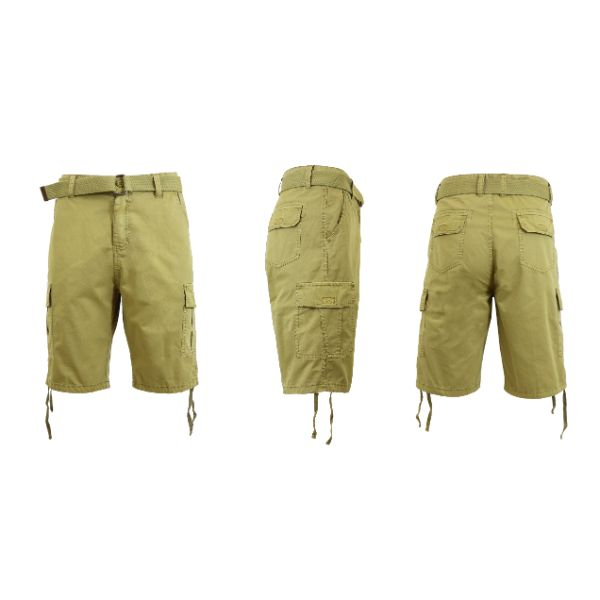 Men's Belted Cotton Cargo Shorts-Daily Steals