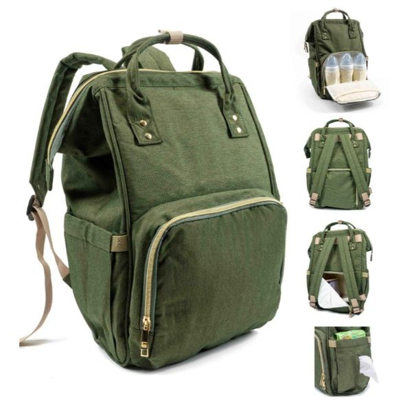 Diaper Bag Backpack- 9 Colors-Olive Green-Daily Steals