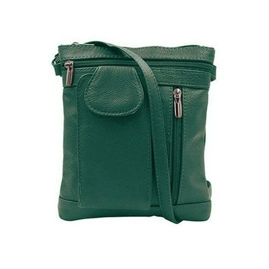 """On-the-Go"" Soft Leather Crossbody Bag-Green-Daily Steals"