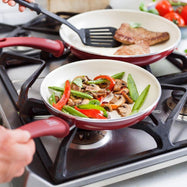 "GreenLife Ceramic Non-Stick 7"" And 10"" 2 Piece Fry Pan Set-"