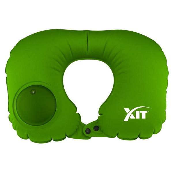 Inflatable Neck Pillow for Travel with Built-in Pump-Green-Daily Steals