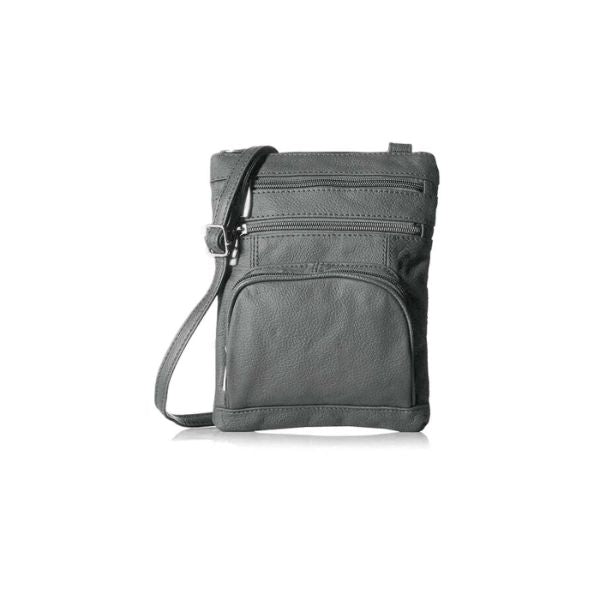 Super Soft Leather Crossbody Bag-Grey-Daily Steals