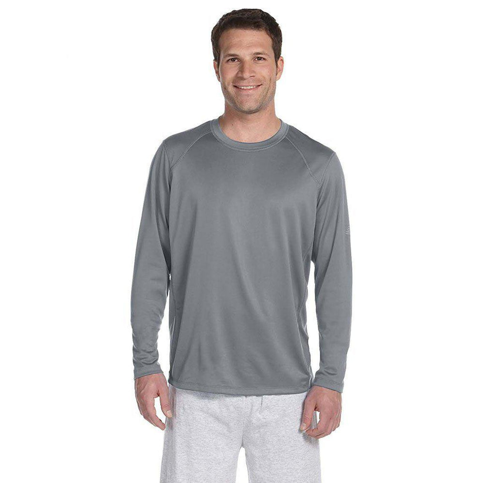Daily Steals-New Balance Men's Long Sleeve Performance T-Shirt-Men's Apparel-GREY-2X-