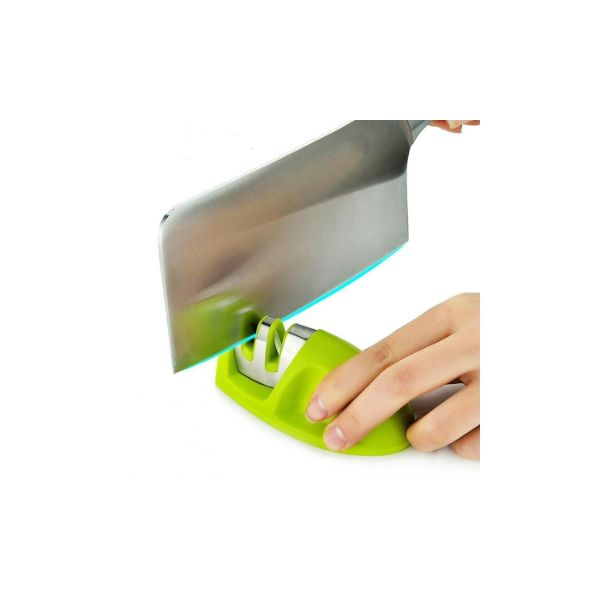 Grip Edge 2-Stage Knife Sharpener- 3 Colors-Green-Daily Steals
