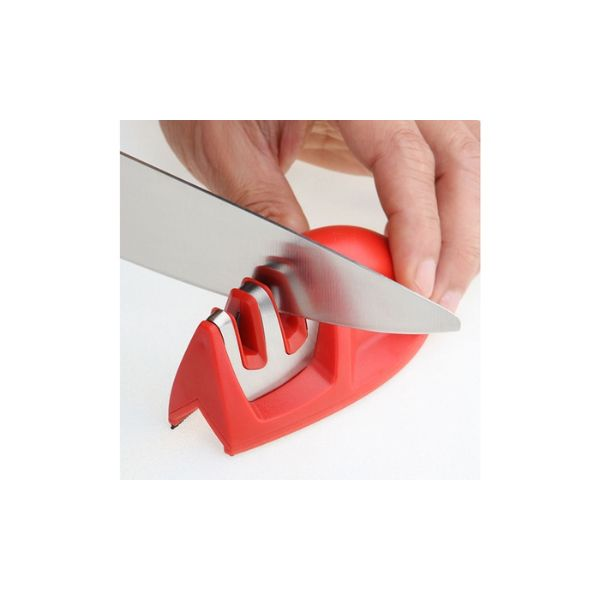 Grip Edge 2-Stage Knife Sharpener- 3 Colors-Red-Daily Steals