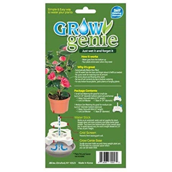 Grow Genie Plant Self Watering Dispensers with Small and Medium - 2 Piece Set-