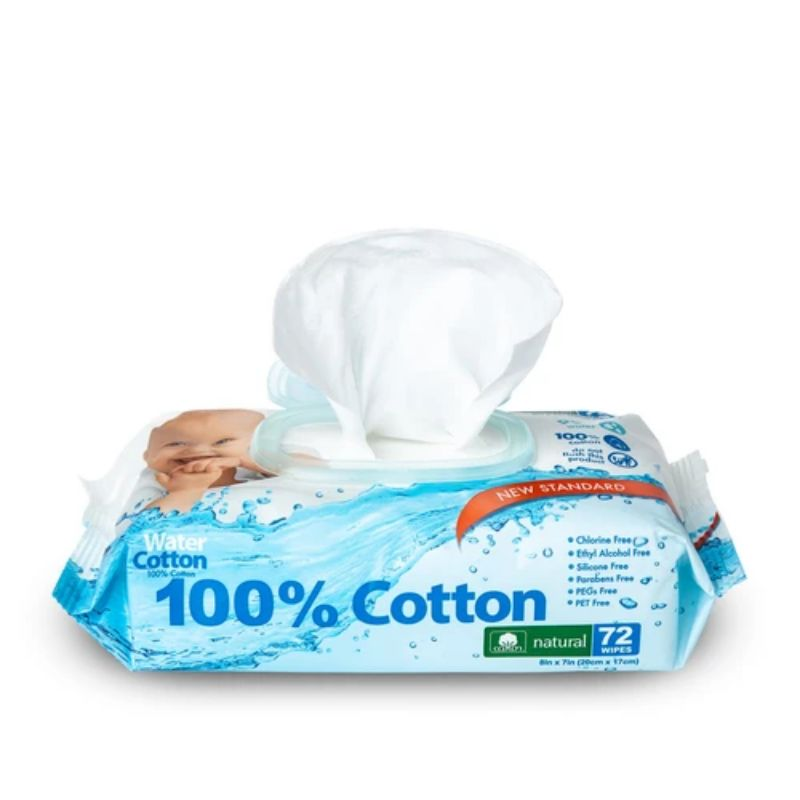 100% Organic Cotton Wet Wipes - 72ct-Daily Steals
