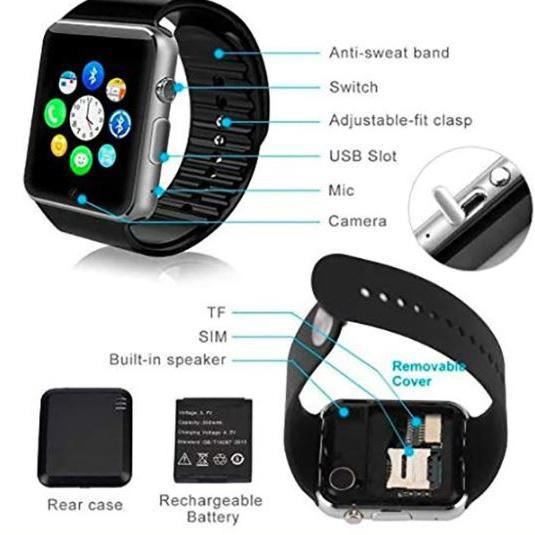 Écran tactile Bluetooth activé Smart Watch-vols quotidiens