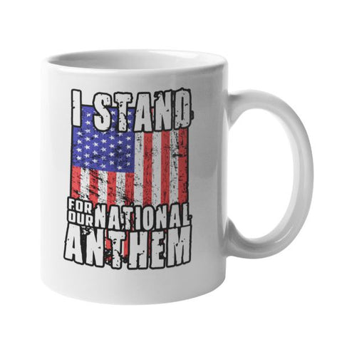 00ebaff06b802 Daily Steals-I Stand For The National Anthem 11 Ounce Coffee Mug-Kitchen-
