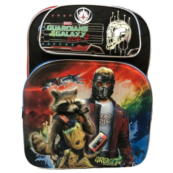 "Boys and Girls Assorted Kids Backpack-Guardians 3D Black 16""-Daily Steals"