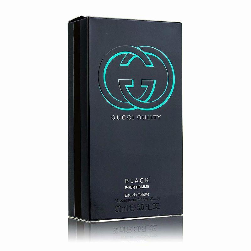Gucci Guilty Black Pour Homme Eau de Toilette Spray for Men 3.4 Ounces-