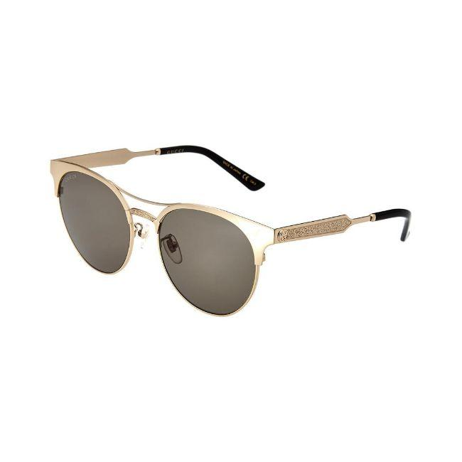 Gucci Gold Frame & Green Lens Women's Round Sunglasses