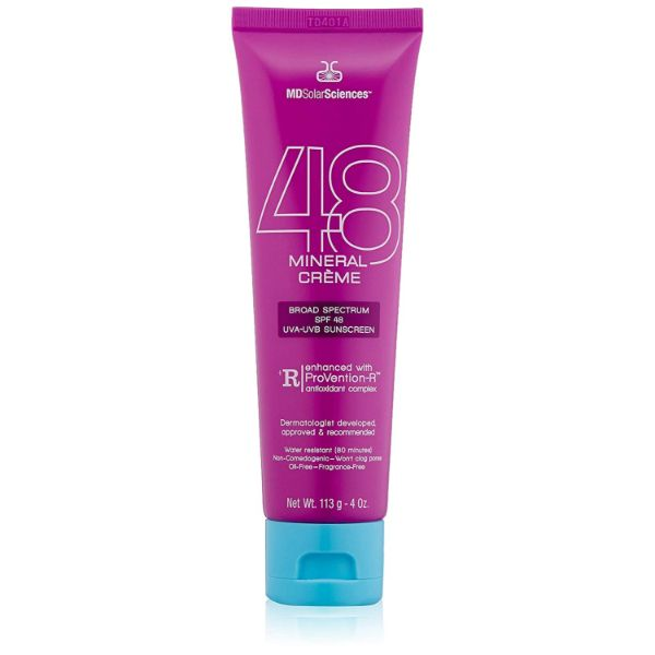 MDSolarSciences SPF 48 Non Whitening Facial Mineral Sunscreen Creme - 4 Oz-Daily Steals