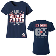 Football Champions New England T-shirts - Options pour hommes et femmes-S-femmes - Wicked Proud-Daily Steals