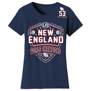 Football Champions New England T-shirts - Mens and Womens Options-S-Women - Shoulder 53-Daily Steals