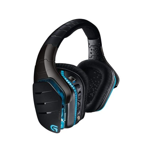 Logitech G933 Artemis Spectrum Wireless 7.1 Surround Sound Gaming Headset-Black-Side