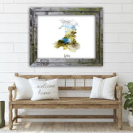 "Wales Watercolor Map Print - Unframed Art Print-7""x5""-Horizontal/Landscape-Daily Steals"