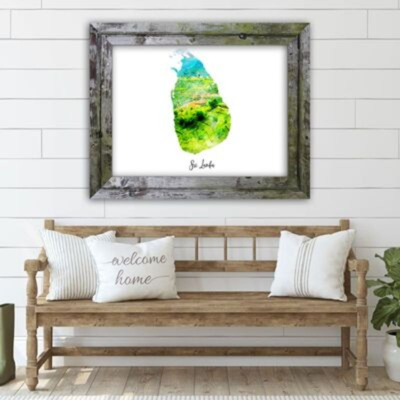 "Sri Lanka Watercolor Map Print - Unframed Art Print-10""x8""-Horizontal/Landscape-Daily Steals"