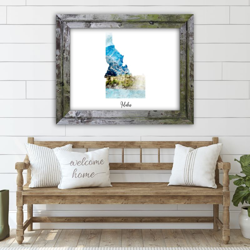 "Idaho Watercolor Map Print - Unframed Art Print-16""x12""-Horizontal/Landscape-Daily Steals"
