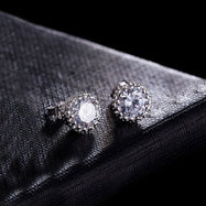 Royal Crystals Princess Stud Earrings Made with Swarovski Crystals-Daily Steals
