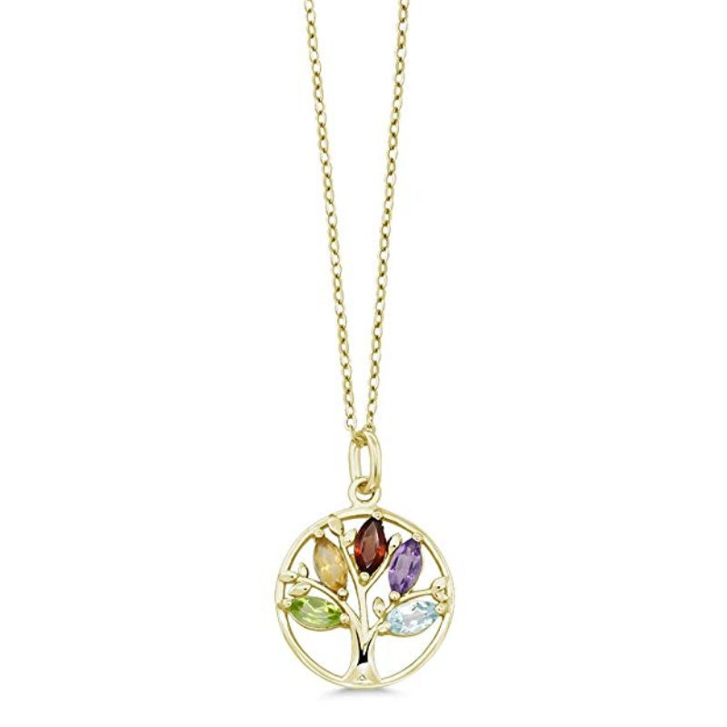 Motherly Rainbow Tree Of Life Necklace in 18k Gold Filled-Daily Steals