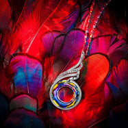 18K White Gold Filled Phoenix Fire Swirl Necklace with Swarovski Crystals-Daily Steals