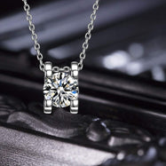 Diamond Created Necklace in 18K White Gold Filled with Swarovski Crystals-Daily Steals