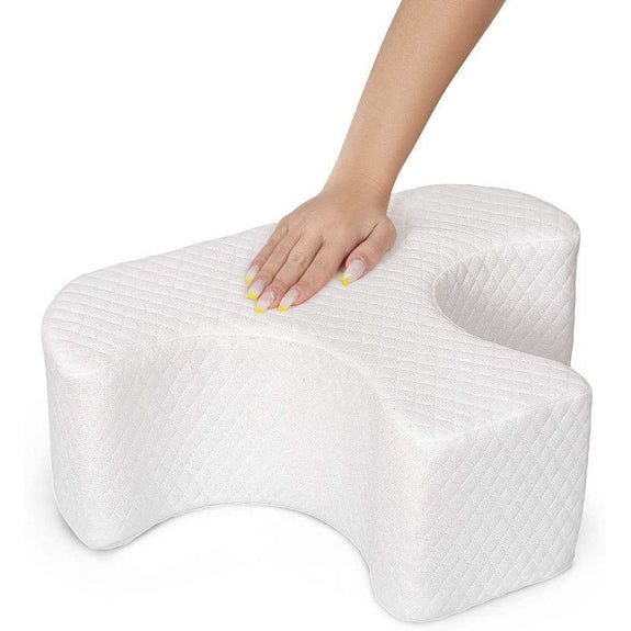 Half Moon Leg Support Memory Foam Pillow For Sleeping - Self Adjusting-