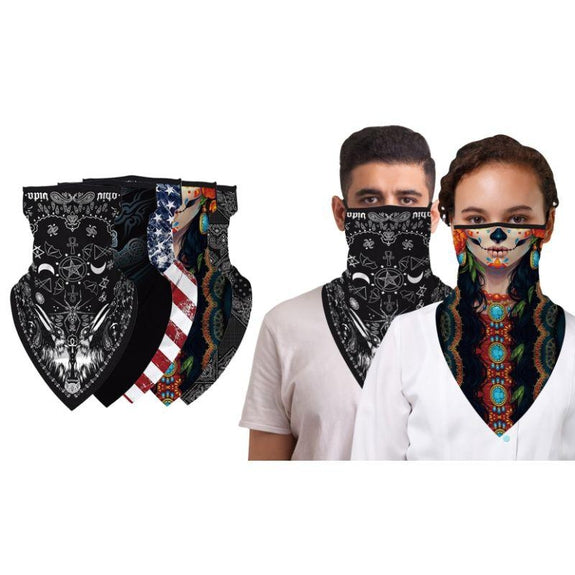 Halloween Balaclava Face Mask Neck Gaiter with Earloop For Men and Women-USA Flag-