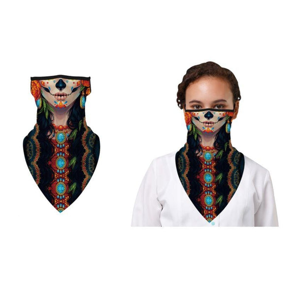 Halloween Balaclava Face Mask Neck Gaiter with Earloop For Men and Women-Voodoo-