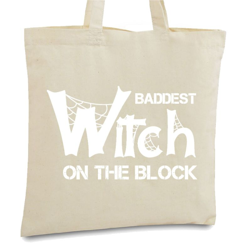 Halloween Themed Tote Bags-Baddest Witch-Daily Steals