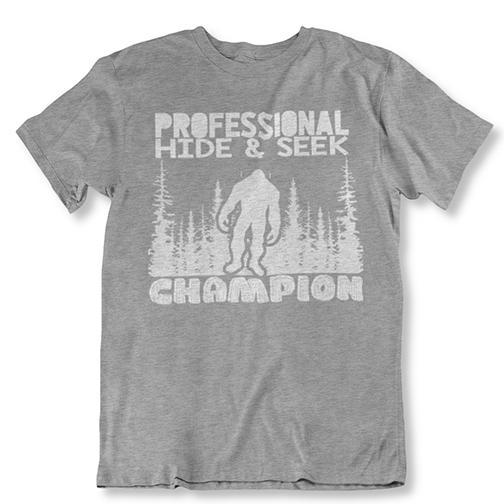 update alt-text with template Daily Steals-Professional Hide and Seek Champion Sasquatch Bigfoot Tshirt-Men's Apparel-Sports Gray-2XL-