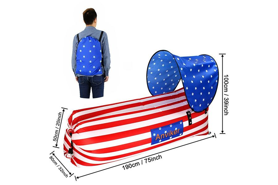 Inflatable Hammocks With Awning-USA-Daily Steals