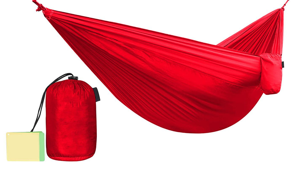 Two-Person Multi-Season and Multi-Purpose Nylon Hammock-Red-Daily Steals